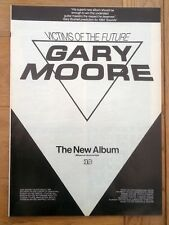 GARY MOORE Victims Of The Future 1984 magazine ADVERT / Poster 11x8 inches