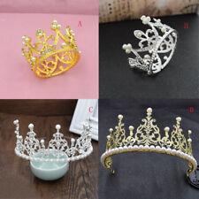 Bridal Princess Rhinestone Pearl Crystal Hair Tiara Wedding Crowns  SRHF