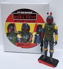 Custom Vintage Kit Bashed Rocket Firing Boba Fett + Display Box & Figure Stand