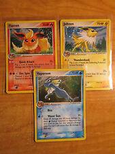 NM Pokemon FLAREON JOLTEON VAPOREON Promo POP SERIES Card Holo Rare Set 2+3+6/17