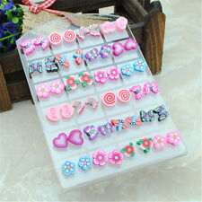 Hot wholesale 24 pairs children Jewelry Cute allergic Free needle earring stud