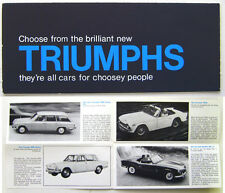 Triumph Herald Vitesse 1300 2000 Spitfire TR4A 1965-66 Original UK Brochure