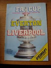 24/01/1981 Everton v Liverpool [FA Cup] (Light Crease)