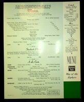 "1970 BURLINGTON RAILWAY ""WAY OF ZEPHYRS"" DINNER DINING CAR MENU"