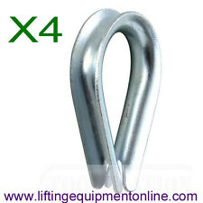 4 x 5mm Galvanised Wire Rope Thimbles