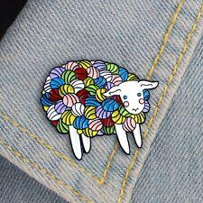Fashion Enamel Cartoon Animal Brooch Jewelry Sheep Lapel Pin Men Women Badge