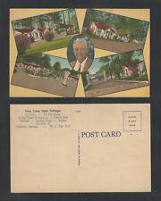 1940s PINES CAMP HOTEL COTTAGES VALDOSTA GEORGIA POSTCARD
