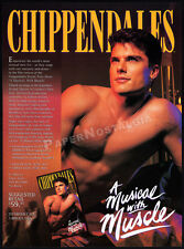 CHIPPENDALES : A Musical With Muscle__Original 1993 video Trade print AD promo