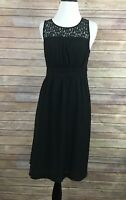 Anthropologie HD In Paris Black Sleeveless Dress (Size: 2)