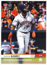 Yordan Alvarez Astros Rookie Call-Up 3 HR Game 8/10/19 2019 Topps NOW 667 /1070