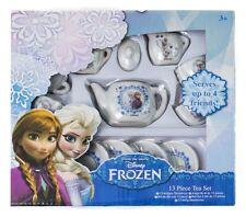 Disney Frozen 13 Piece Porcelain Tea Set Party Pretend Play Activity Toy 3