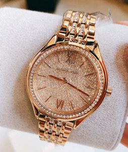 Michael Kors Women's Mindy Rose Gold Tone Watch MK7085 SHIPS TODAY