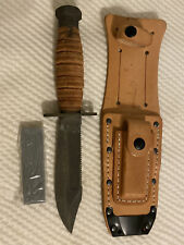 Ontario (9-87) - Vintage Pilot's Survival Knife w/ Leather Sheath & Stone