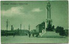 Primi '900 Piacenza Monumento Pontiere D'Italia Piazza Bicicletta FP B/N ANIM