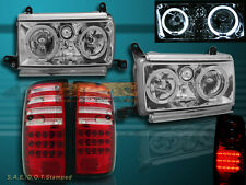 91-94 TOYOTA LAND CRUISER FJ82 DUAL HALO CRYSTAL HEADLIGHTS & LED TAIL LIGHTS