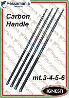 Manico guadino telescopico Ignesti carbonio 3-4-5-6 mt