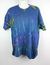 Tie Dye T-Shirt Top Retro Festival Hippy Batik Tye Die Rave T Shirt Nepal Z05
