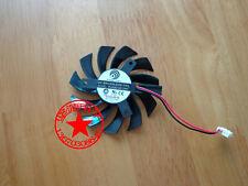 75mm ATI GTX460 GTX560 GTX580 R6870 Fan PLD08010S12HH 2wire 12V 0.35A #M3821 QL