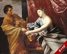 JOSEPH OF EGYPT REFUSES POTIPHAR'S WIFE PAINTING BIBLE ART REAL CANVAS PRINT