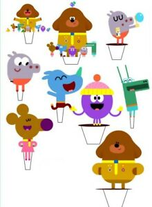 12 x   Custom Duggie Birthday edible stand up cupcake toppers *PRE_CUT*