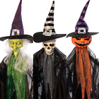 HOLLO STAR 3 Pack Halloween Decorations Light Up Hanging Ghost with Bendable Arm