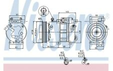 NISSENS Compresor aire acondicionado 12V 89285
