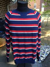 NWT $235 Ron Herman Cardigan Men's Striped Navy Blue/Red/White sz.M Sweater