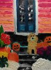 """Original oil painting Helloween without frame size 9x7"""" (24x18 cm) canvas board"""