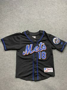 New York Mets Baseball Jersey Kids 10 / Medium Sewn Player 18 Cedeno MLB Yout