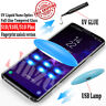 UV Tempered Glass For Samsung S8 S9 S10 Plus Full Liquid Glue Screen Protector
