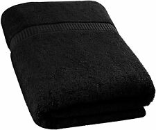 Soft Cotton Machine Washable Extra Large (35-Inch-by-70-Inch) Bath Towel, Black