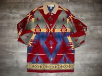 Vintage Jones New York Southwestern Aztec Pattern Coat Jacket Women's Size Small