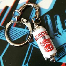 Unique SMIRNOFF ICE KEYRING fab VODKA MINIATURE keychain CAN russian COOL gift