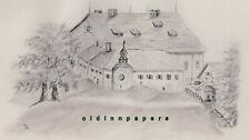 Tirschenreuth Kloster Waldsassen Fischhof Bleistift Zeichnung Kalb Erlangen 1887