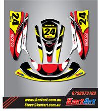 TopKart Cadet 2008 - 2011 go kart sticker kit NERO STYLE decals