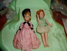 "New ListingVintage / Antique 7"" Dressed Dolls, Arms, Eyes, Head Move"