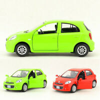 1/36 Scale Nissan March Model Car Metal Diecast Gift Toy Vehicle Kids Pull Back