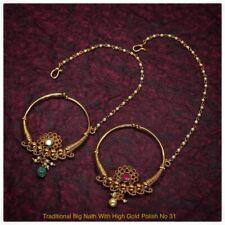 Traditional Nath Indian Bridal Nose Ring pearl kundan bridal nathni jewelry