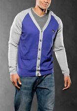 Oakley New Men O-Jupiter Sweater Blue Cardigan Silk Cashmere Large L