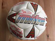 Football signed by the 1990 England squad. Robson Gazza Lineker Inc COA