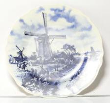 Sammel assiette des plaques Murales BLEU HOLLANDE MOULIN à vent