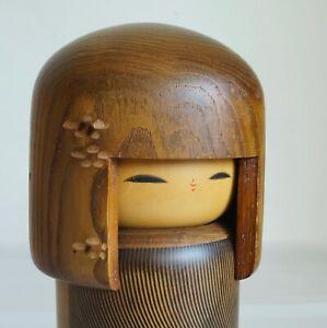 "20cm(7.9"") Japanese Sosaku Kokeshi Doll : signed Usaburo"