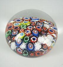 Murano Glas Briefbeschwerer Millefiori Glass Paperweight Bubbles Italy Handmade