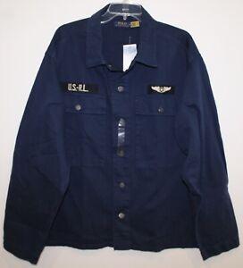 Polo Ralph Lauren Mens Navy Blue Air Force Field Jacket NWT $198 Size 2XL XXL