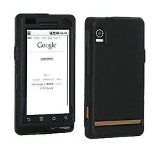 Hard Rubberized Case for Motorola Droid A855 - Black