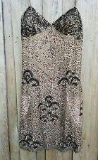 Aiden Mattox Dress sequins gold brown metallic  short, size 10 Stunning!
