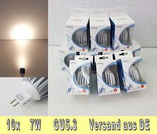 🎅🎄🎁 Winter SALE 10x 7W LED-Spot 12V Warmweiß NEU OVP MR16 GU5.3 🎁🎄🎅