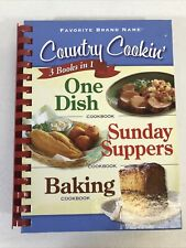 Country Cookin 3 Books In 1 ONE DISH, Sunday Suppers, & BAKING 2010