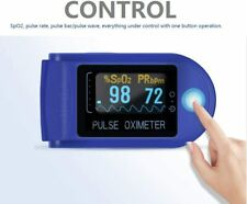 Home Finger-Clamp Medical Oximeter Pulse Blood Oxygen SPO2 PR Saturation Monitor