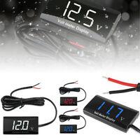 12V Digital LED Display Voltmeter Voltage Gauge Car Motorcycle Panel Meter